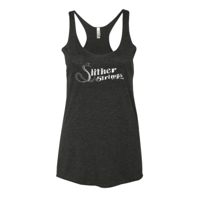 Slither Strings Women's B&W Grunge Tank Top