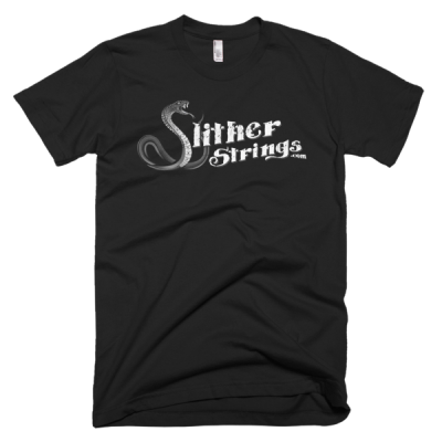 Slither Strings B&W Grunge Short Sleeve Men's T-shirt