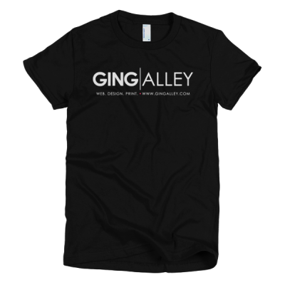 GINGALLEY Short Sleeve Women's T-Shirt (Dark)