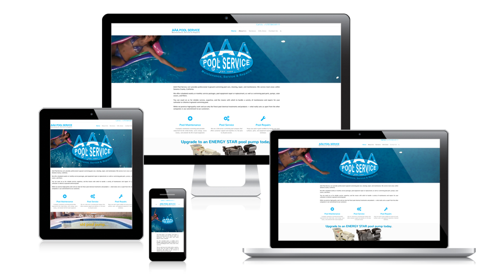 AAA Pool Service - Responsive Website Design