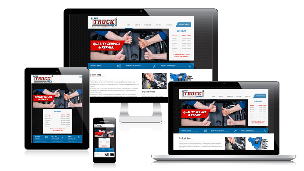 The Truck Shop - Responsive Website Design