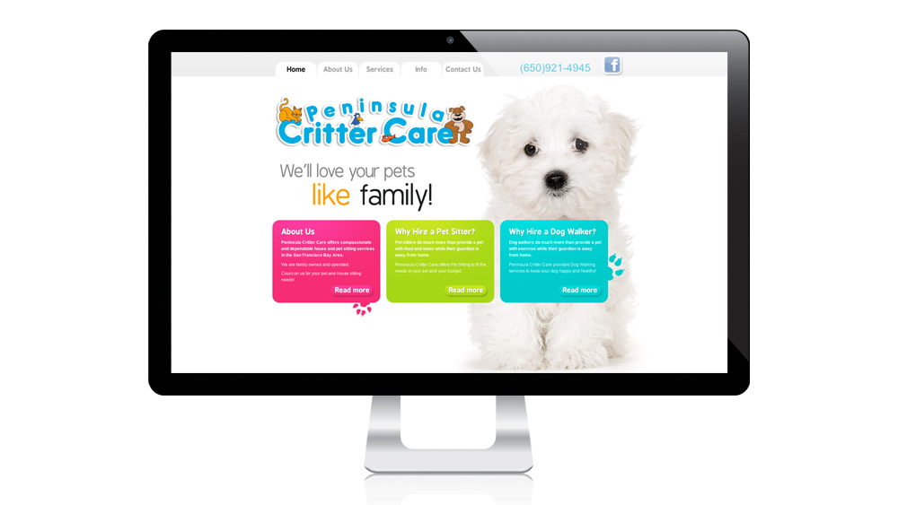 Peninsula Critter Care - website design