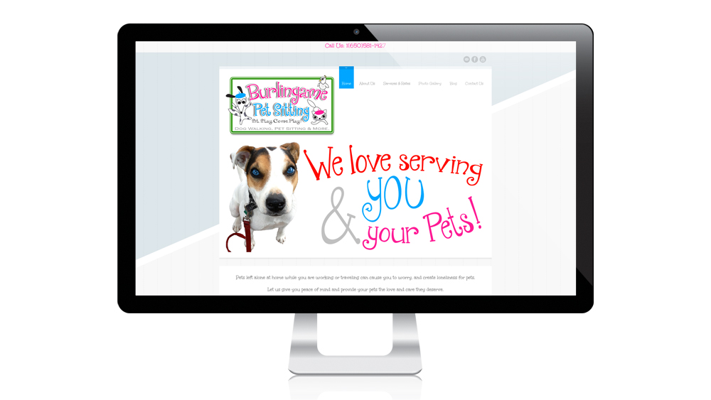 Burlingame Pet Sitting - website design