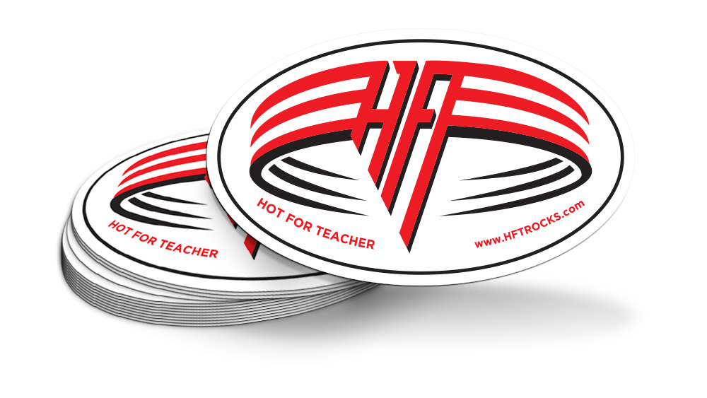 HOT FOR TEACHER - sticker