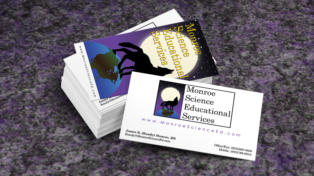 Monroe Science Educational Services - business card