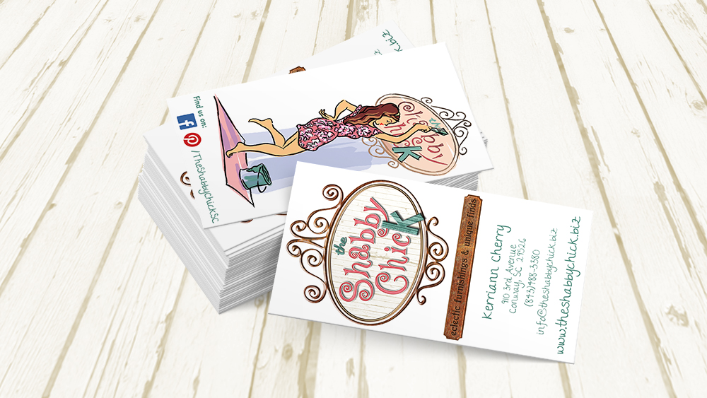 The Shabby Chick - business card