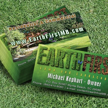 Earth First - business card