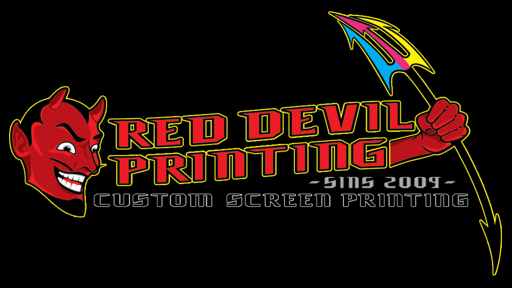 Red Devil Screen Printing - logo design