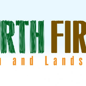 Earth First Lawn and Landscape - logo design