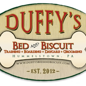 Duffys Bed and Biscuit - logo design