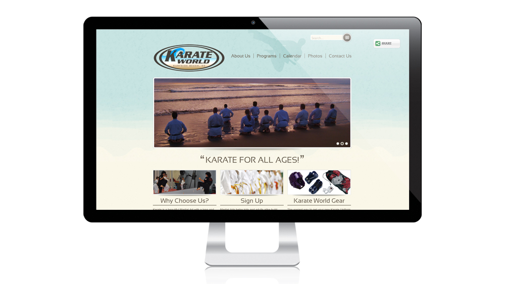 Karate World - Website Design