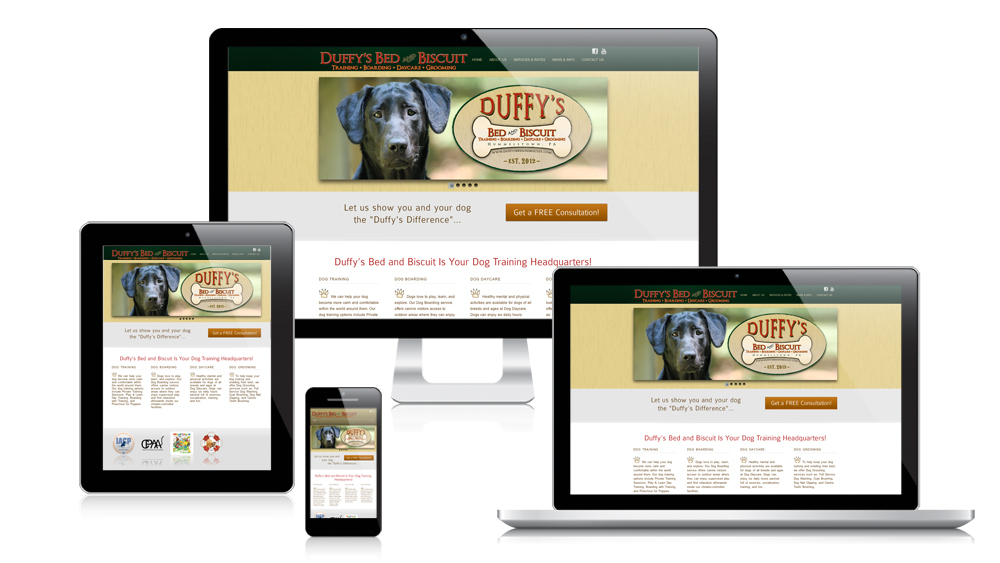 Duffy's Bed and Biscuit - Responsive Website Design