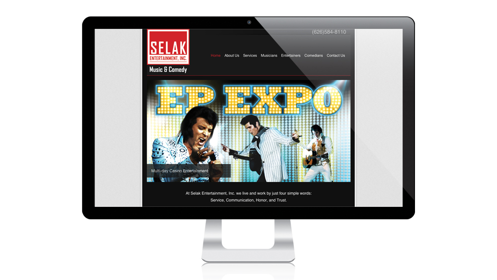 Selak Entertainment, Inc. - Website Design