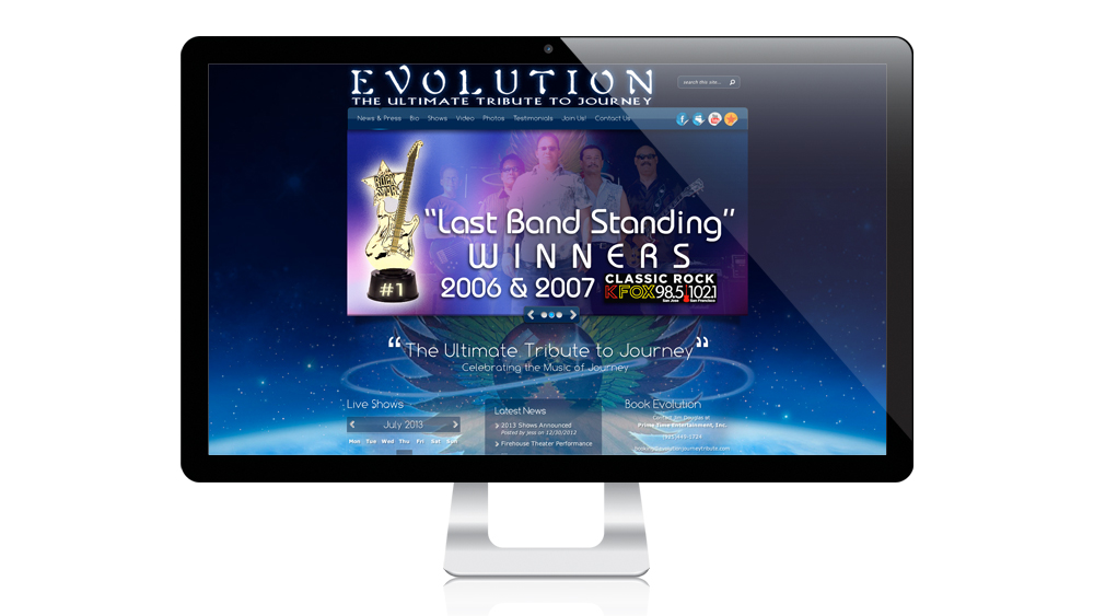 Evolution Website Design