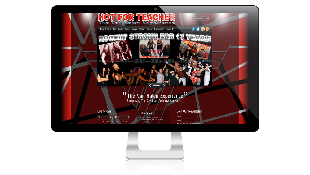 HOT FOR TEACHER Website Design