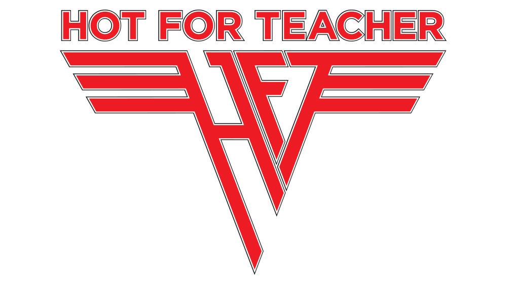 Hot For Teacher logo design