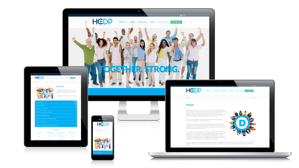 Horry County Democratic Party - Responsive Website Design
