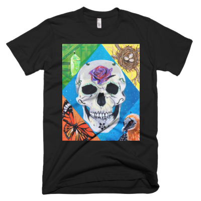 "People In Light Creations – ""Rebirth of the Monarch Lammergeier"" – Short Sleeve Men's T-Shirt"