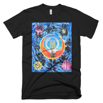 "People In Light Creations – ""Ten Minutes to Midnight"" – Short Sleeve Men's T-Shirt"