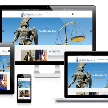 The Gibbs Law Firm - Responsive Website Design