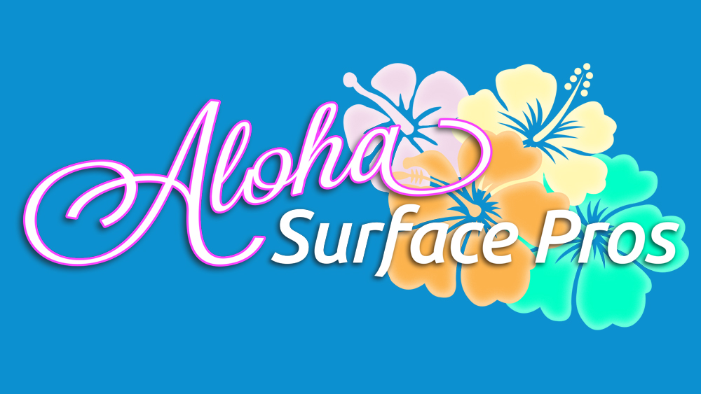 Aloha Surface Pros logo design