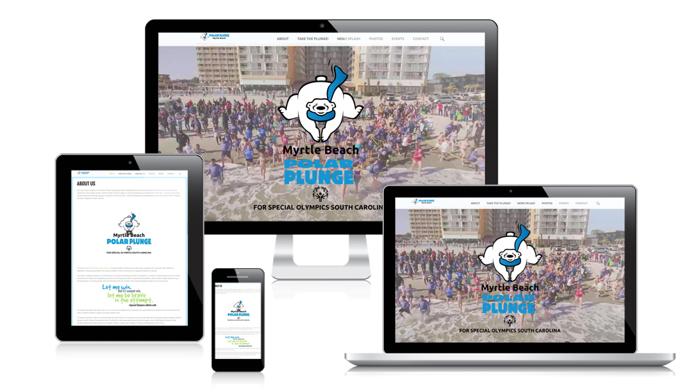 Myrtle Beach Polar Plunge - Responsive Website Design